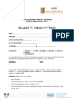 BULLETIN Inscription Salon Des Arts (Fr)