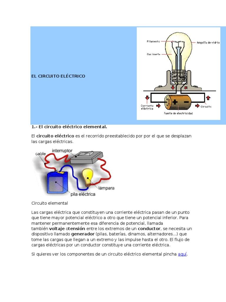 Circuito Electrico : El circuito elÉctrico
