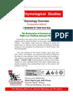 Web Etymology Class 1
