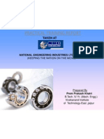Practical Training Report on Ball Bearing