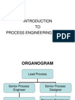 Process Design Induction - Introduction to Process Engineering