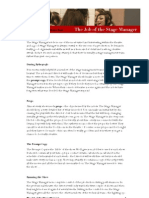 The Job of the Stage Manager PDF Version