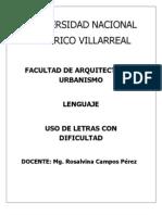 Uso de La Letra G,J,H,M,NR,RR, Etc. 2012