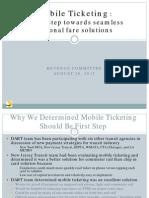 DART Mobile Ticketing Presentation