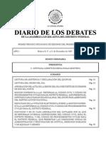 Diario de Debates 21 Dic 2009 Aldf