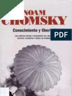 73386475 Chomsky Noam Conocimiento Y Libertad OCR
