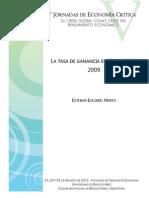 Maito, Esteban Ezequiel - La Tasa de Ganancia en Chile 1986-2009