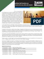 Obra de Teatro contra el hambre /AlimentARTE/ Acción contra el hambre/Teatro Drugos