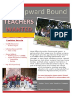 Saturday Instructors Wanted Flyer