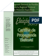 Cartilha Da Propaganda Eleitoral 2012