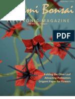 Origami Bonsai Electronic Magazine, Volume 4 Issue 1