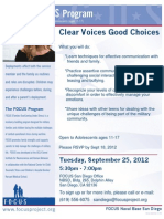 Clear Voices * Good Choices - FOCUS workshop for Teens