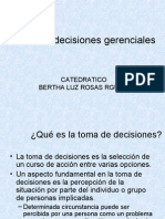 Toma de Decisiones Gerenciales