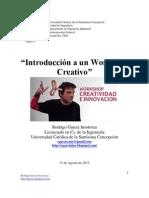 Introducción a un Workshop Creativo. Rodrigo García