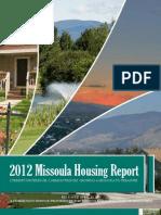 2012 Missoula Housing Report