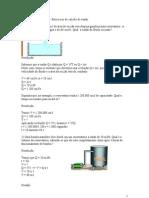 aula dia 02062012 Exercícios de calculo de vazão