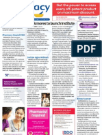 Pharmacy Daily for Fri 31 Aug 2012 - Blackmores Institute, Pharmacy Network, Pharmacy Council CEO, Preventable amputations and much more...