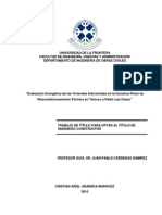 Evaluación energética de las viviendas intervenidas en la iniciativa piloto de reacondicionamiento térmico en Temuco y Padre las Casas