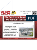 The Functions of Substations in the Distribution of Electricity