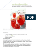 Pechugas Rellenas, Ensalada Cesar, Limonada de Fresa