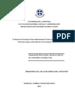 Evaluación de estrategias de reacondicionamiento térmico para el edificio Teodoro Wickel del campus Andrés Bello de la Universidad de la Frontera