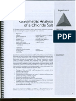 Lab 2 (Gravimetric Ananlysis of Chloride Salt)