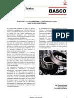 Rodamientos resistentes a la corrosión para aplicación industrial