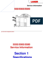 Lanier Digital Copier-Printer 5555, 5565, 5580 Parts & Service