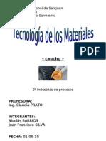 Tecnología de los Materiales -CAUCHO-