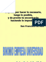 BinoMio Empresa Universidad