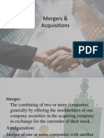 Mergers and Acquistions-IB