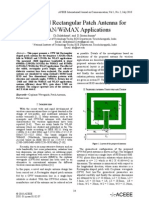 A CPW-fed Rectangular Patch Antenna for WLAN/WiMAX Applications