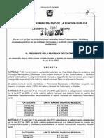 Decreto 0840 limites salariales