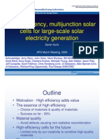 High Efficiency Multijunction Solar Cells for Large Scale Solar Electricity Generation Kurtz
