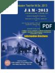 IIT JAM 2013 Brochure