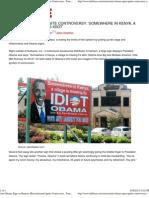 Anti-Obama Signs in Hanson, Massachussetts Ignite Controversy '