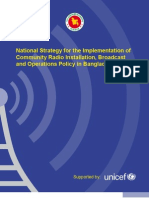 National Strategy for the Implementation of Community Radio Installation, Broadcast and Operations Policy in Bangladesh