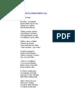 Inocenta Personificata Poezie de Ion Pribeagu