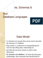 Data Models, Schemas & Instances