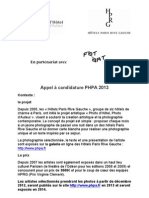 Appel Candidature PHPA 2013