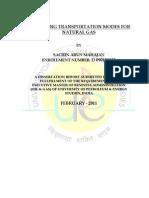 Comparing Transportation Modes for Natural Gas Sachin Arun Mahajan 14032011