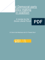 Liberal Democrat party policy-making in coalition - a Social Liberal Forum review