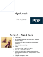 Gyrokinesis Beginner