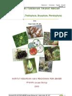Handout Materi Kuliah Taksonomi Tumbuhan Tingkat Rendah Hmbp