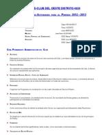 Plan de Posibles Actividades 2012-13