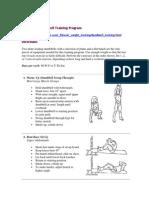 Home Gym Dumbbell Training