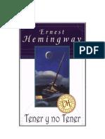 1937-Hemingway, Ernest - Tener y No Tener