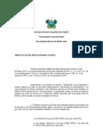 ORIENTAÇÃO SERVIÇO 0003 PGE
