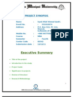Project Synopsis PM Syed Altaf Ahmed[1]