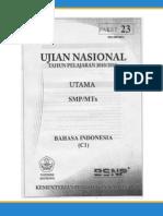 Soal UN SMP Tahun 2011 b Indonesia(p23)